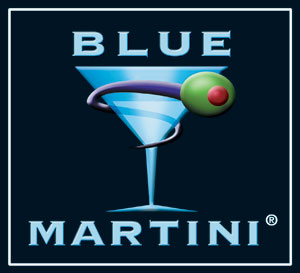 blue martini cocktail party
